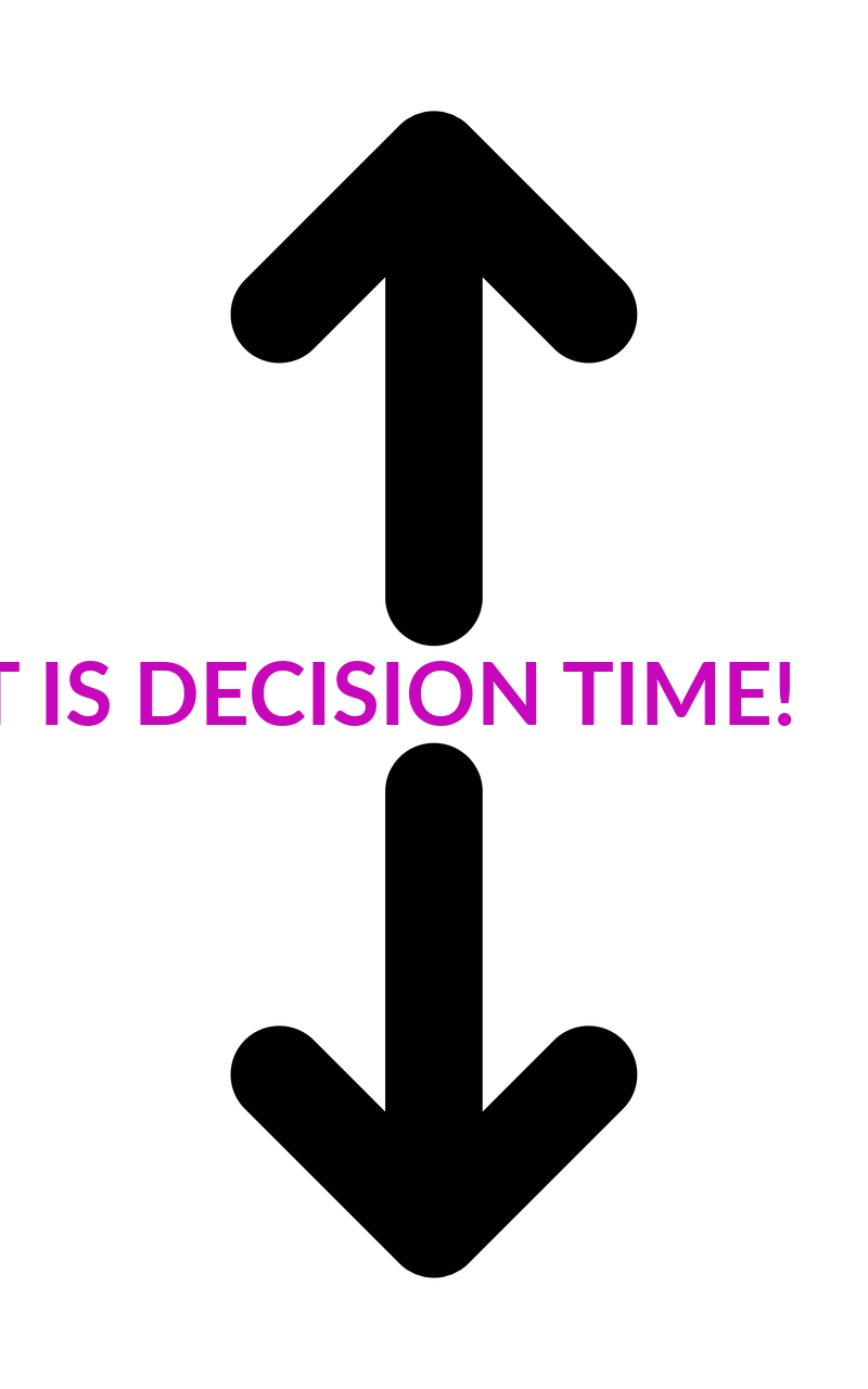 IT IS DECISION TIME!